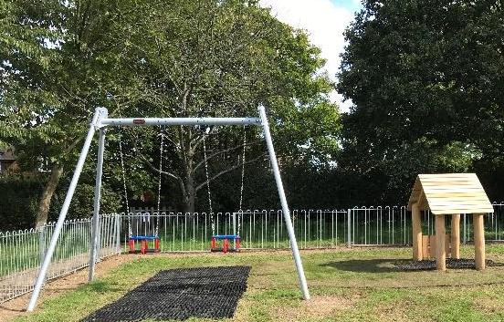 Hunsdon Playground swings