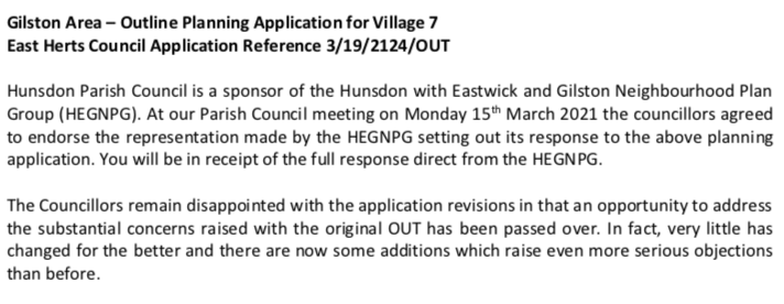 HPC revised planning application village 7