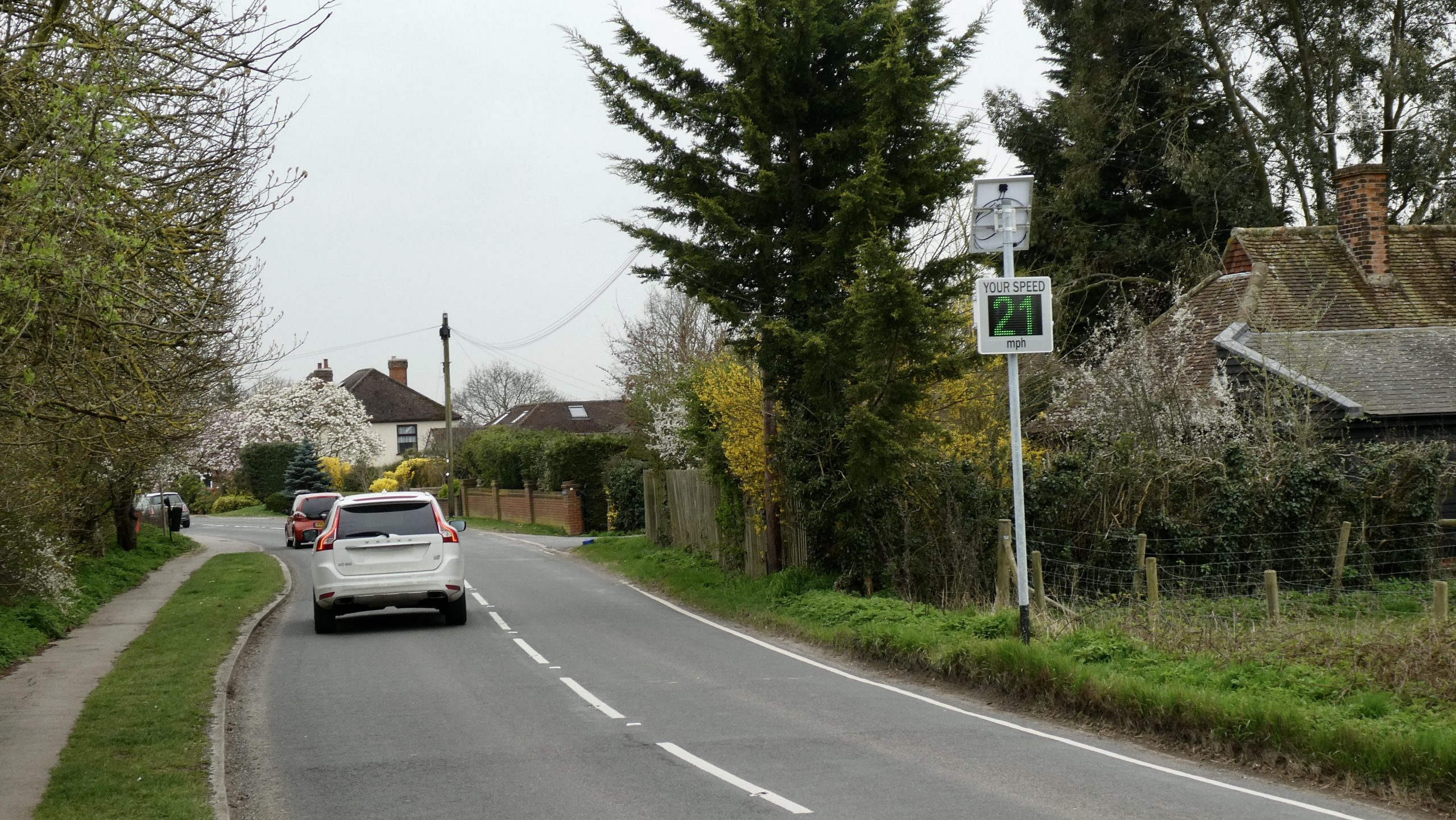 Hunsdon Road Speed Sign