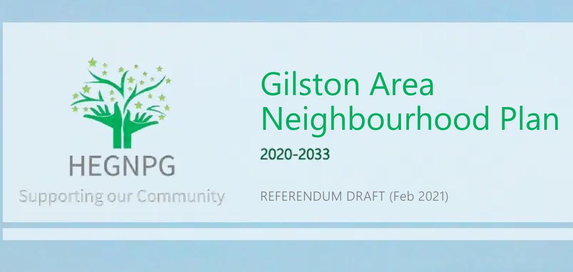 Gilston Area Neighbourhood Plan Referendum Draft